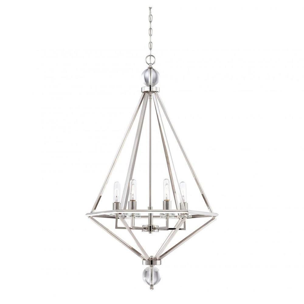 Merione 6-Light Polished Nickel Pendant