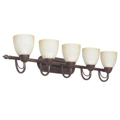 Fiscus 5-Light Oil Rubbed Bronze Bath Vanity Light