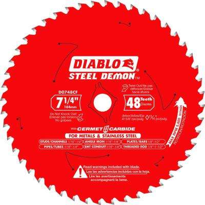 7-1/4 in. x 48-TPI Cermet Steel Demon Ferrous Metal Cutting Saw Blade