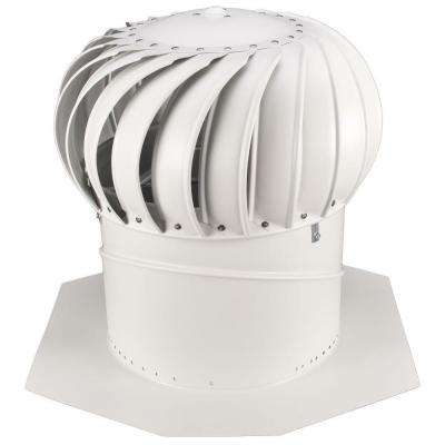 14 in. White Aluminum Internally Braced Wind Turbine