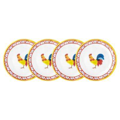 Porto Chal 4-Piece Assorted Colors Melamine Appetizer Plate Set
