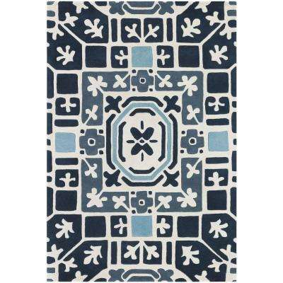 Parson Blue/White/Grey 5 ft. x 7 ft. 6 in. Indoor Area Rug