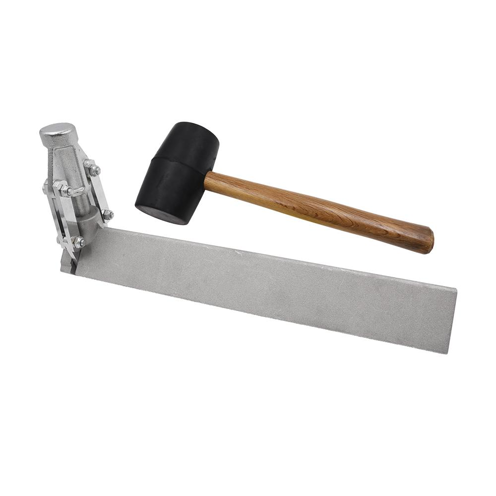 ANVIL 1-1/4 in. Steel Corner Bead Tool with 24 oz. Rubber Mallet