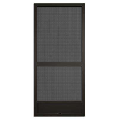 36 in. x 80 in. Canoe Creek Bronze Aluminum Screen Door