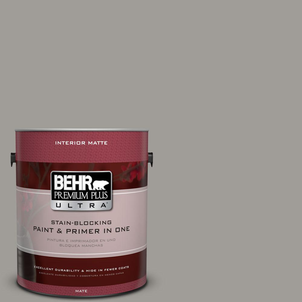 1 gal. #BNC-17 Casual Gray Matte Interior Paint
