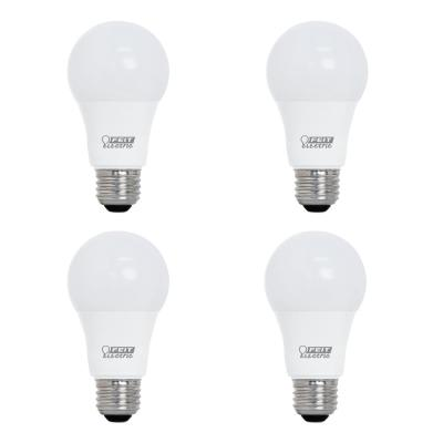 40-Watt Equivalent A19 Dimmable CEC Title 20 LED ENERGY STAR 90+ CRI Light Bulb, Daylight (4-Pack)