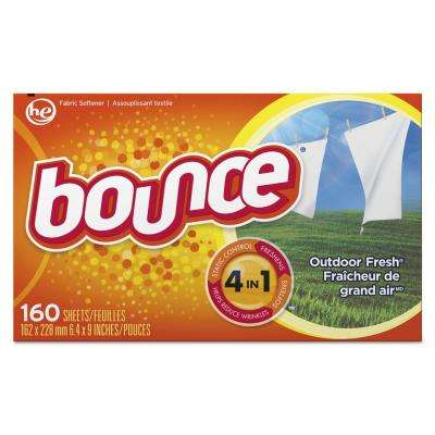 Outdoor Fresh Scent Fabric Softener Dryer Sheets (160-Count) (Case of 6)