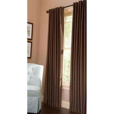 Semi-Opaque Tilled Soil Thermal Crepe Back Tab Curtain