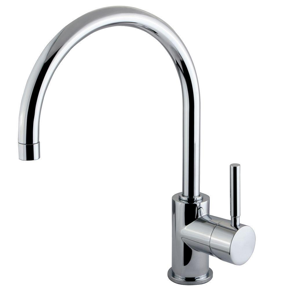 Single Hole Single-Handle High-Arc Vessel Bathroom Faucet in Polished Chrome