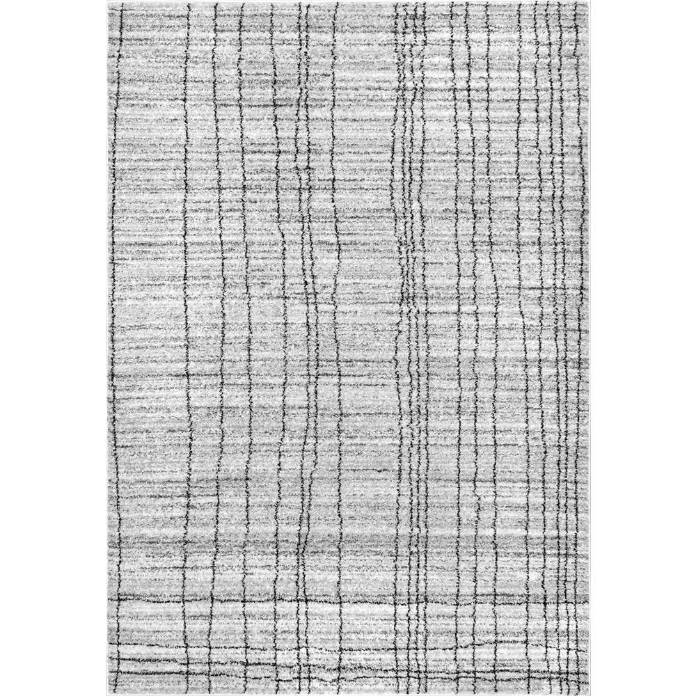 Nuloom Jean Stripes Gray 5 Ft X 8 Area Rug