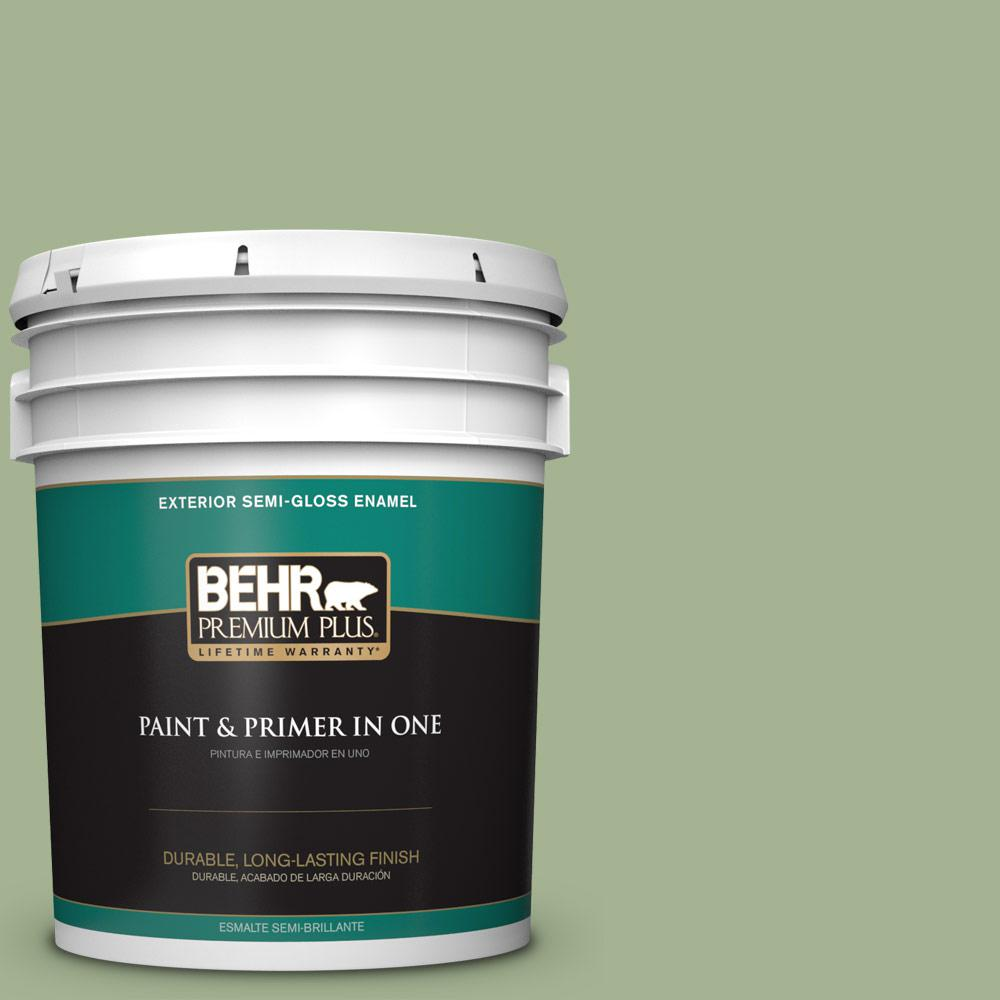 5 gal. #PPU11-06 Willow Grove Semi-Gloss Enamel Exterior Paint