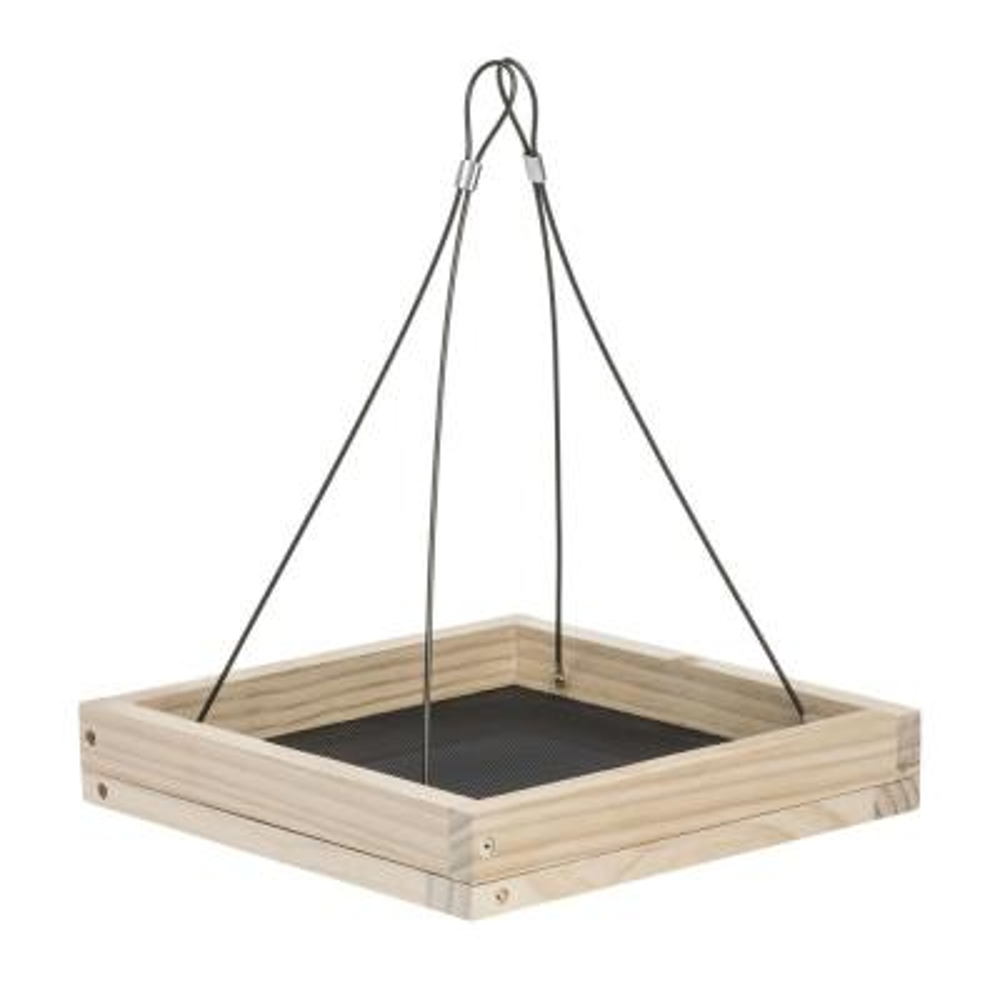 Hanging Tray Wood Bird Feeder - 1.6 lb. Capacity