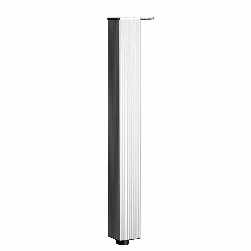 Richelieu Hardware 27-1/2 in  Aluminum Metal Triangular Design Leg (4-Pack)