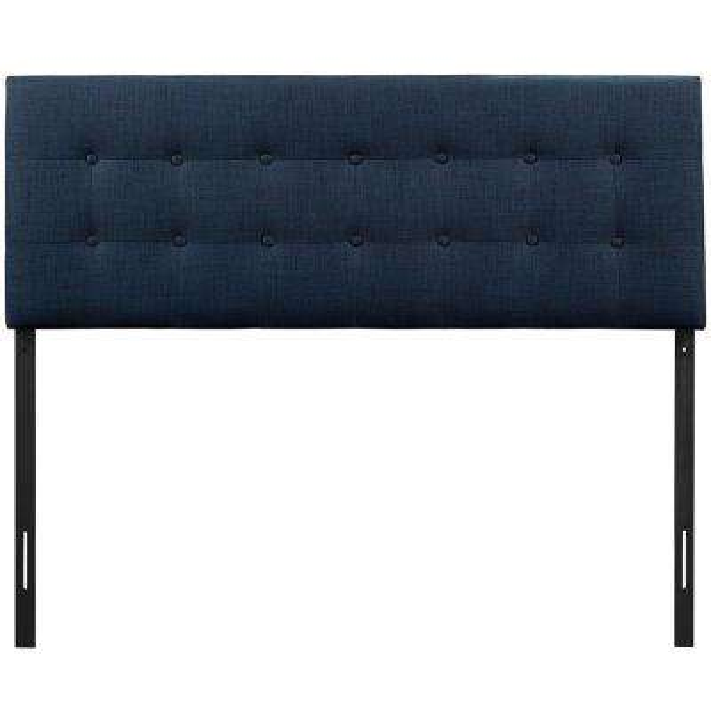 Emily Navy Full Upholstered Fabric Headboard