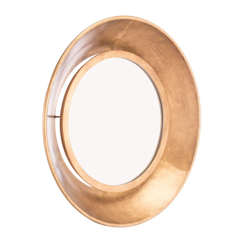 ZUO Ovali Gold Small Wall Mirror