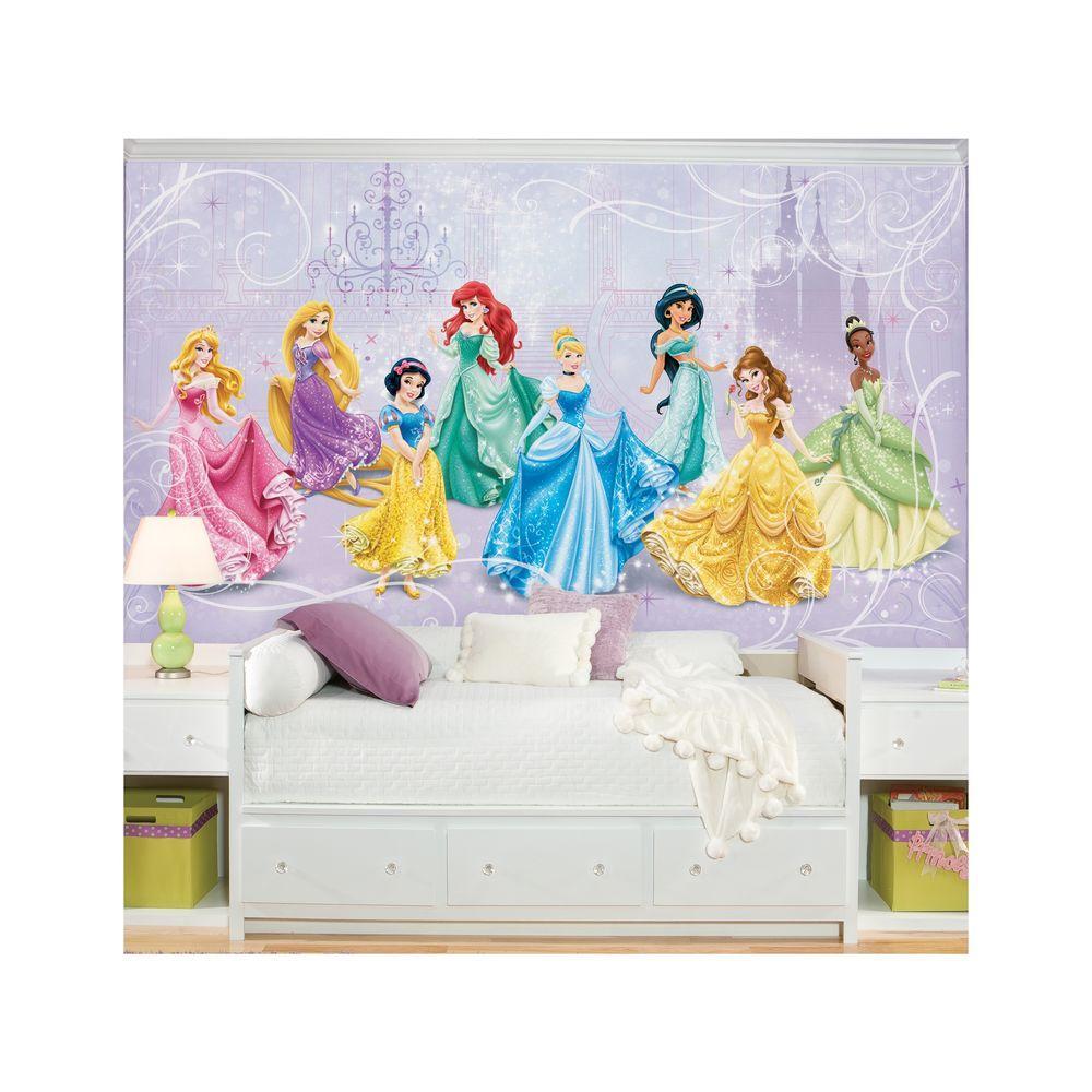 roommates 18 in x 2 5 in disney princess royal debut wall mural rh homedepot com disney princess wall decals disney princess wall decals australia