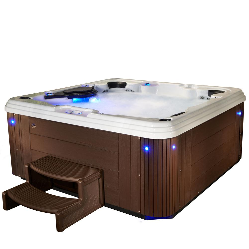 Adulation 6-Person 67-Jet Standard Hot Tub with Lounger in Espresso