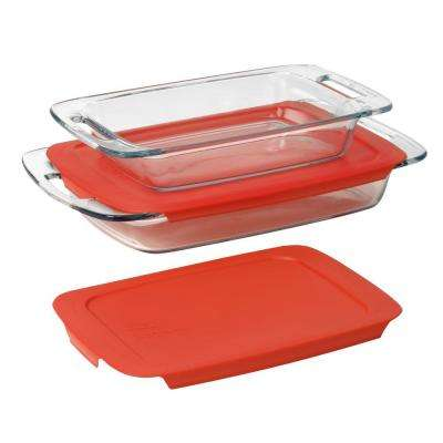 4-Piece Rectangle Glass Casserole Set