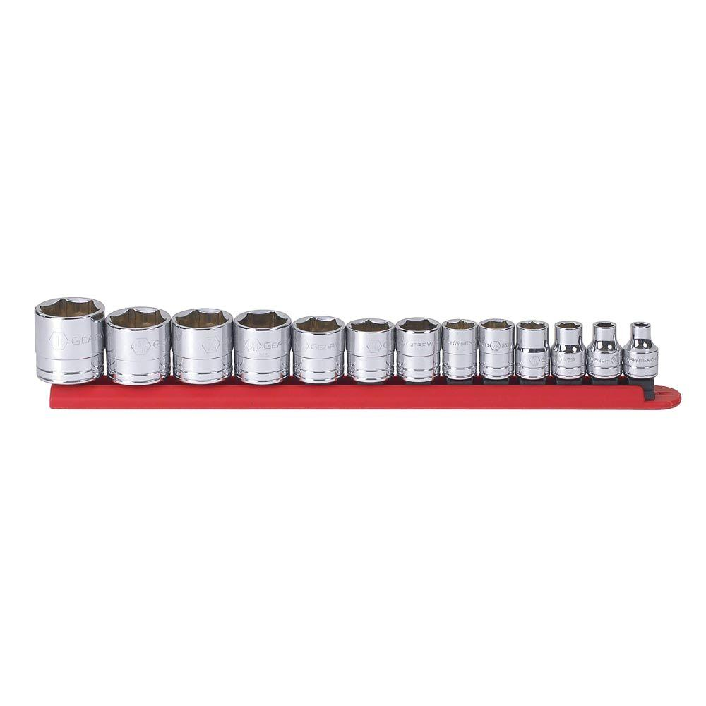 GearWrench 3/8 in. Drive SAE 6-Point Standard Socket Set (13-Piece)