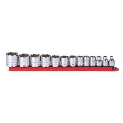 3/8 in. Drive SAE 6-Point Standard Socket Set (13-Piece)