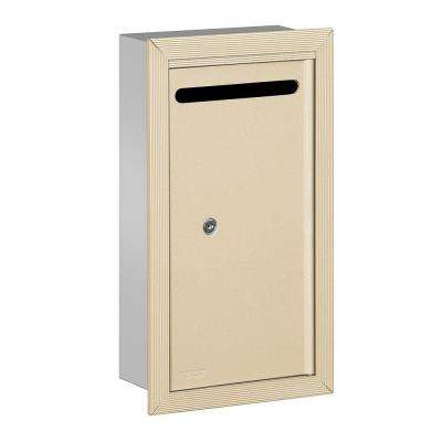 2260 Series Sandstone Slim Recessed-Mounted Private Letter Box with Commercial Lock