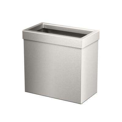 Modern Waste Can Rectangle in Satin Nickel
