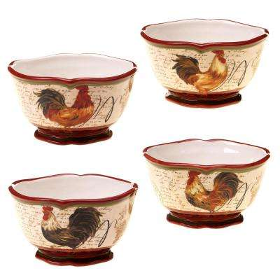 Tuscan Rooster Ice Cream/Cereal Bowl (Set of 4)