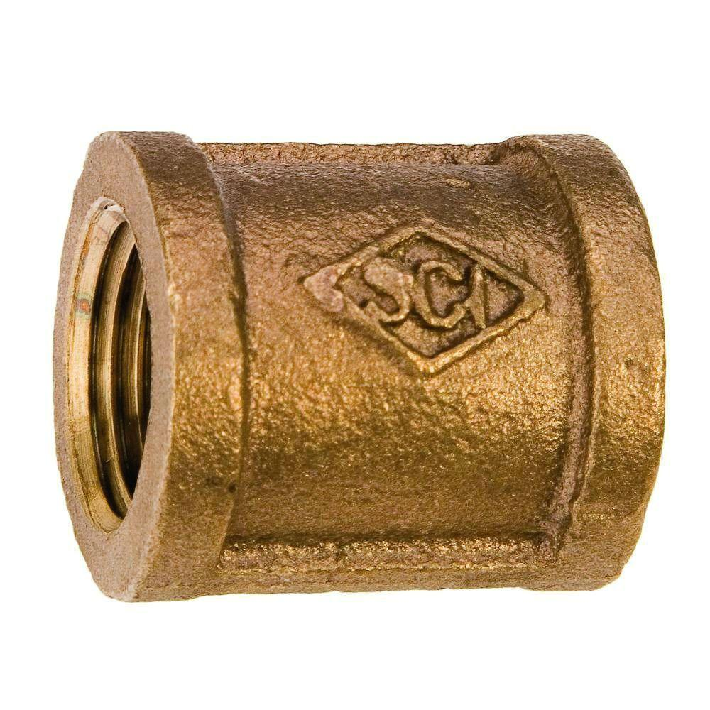 1/2 in. Lead-Free Cast Red Brass FIP Coupling