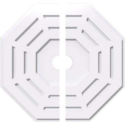 24 in. OD x 3 in. ID x 1 in. P Westin Architectural Grade PVC Contemporary Ceiling Medallion (2-Piece)