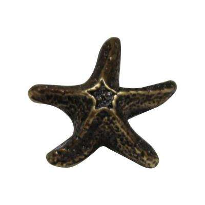 Antique Brass Starfish Cabinet Hardware Knob