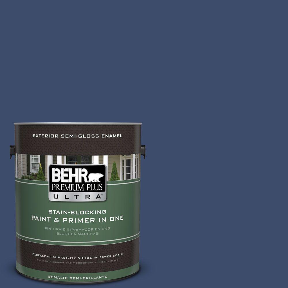 1 gal. #HDC-SM16-08 Blackberry Cobbler Semi-Gloss Enamel Exterior Paint