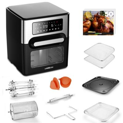 1700W 12.7 Quart Air Fryer Toaster Oven Select with Rotisserie and Dehydrator Features and Accessories, Black