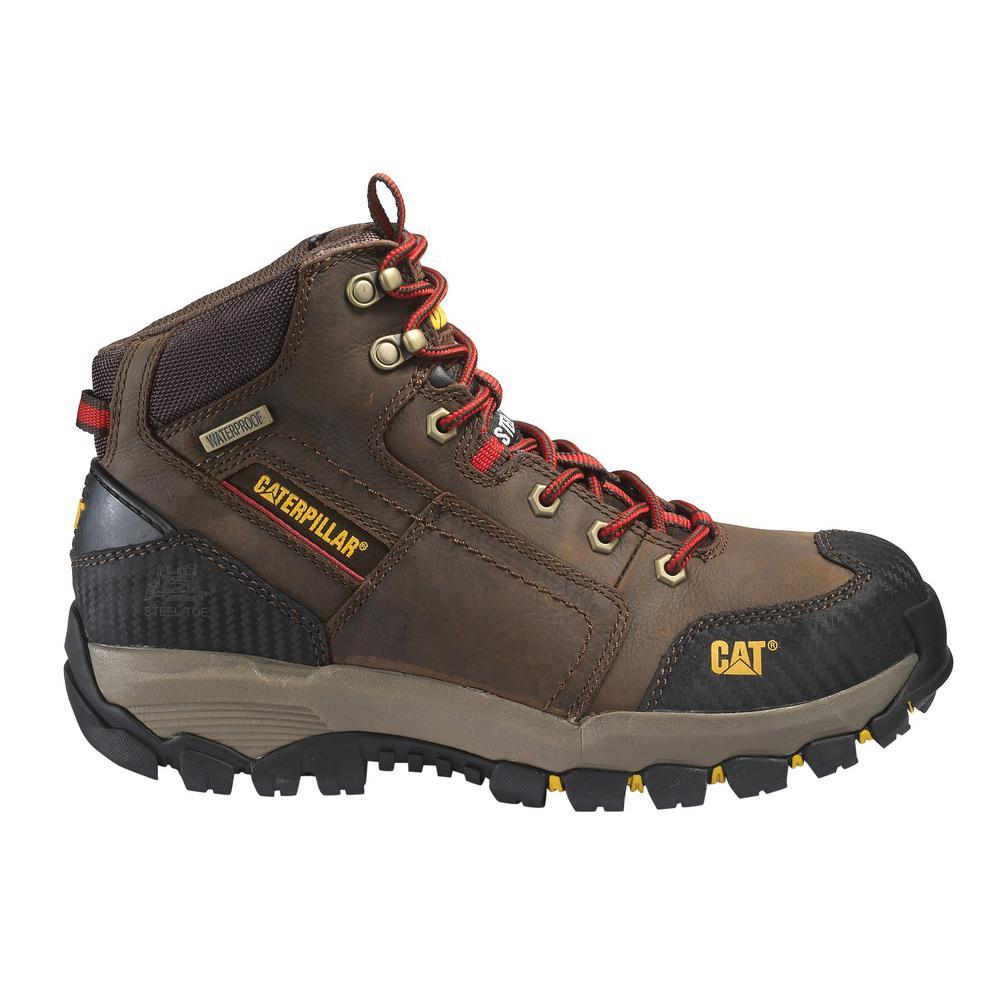 2b1b9aa33ed CAT Footwear Men's Size 11 Clay Grain Leather Navigator Mid Waterproof  Steel Toe Work Boots