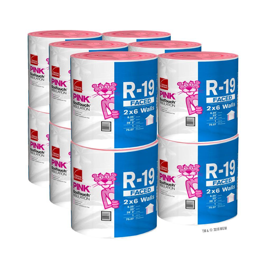 R-19 Kraft Faced Fiberglass Insulation Roll 23 in. x 39.2 ft. (12-Rolls)
