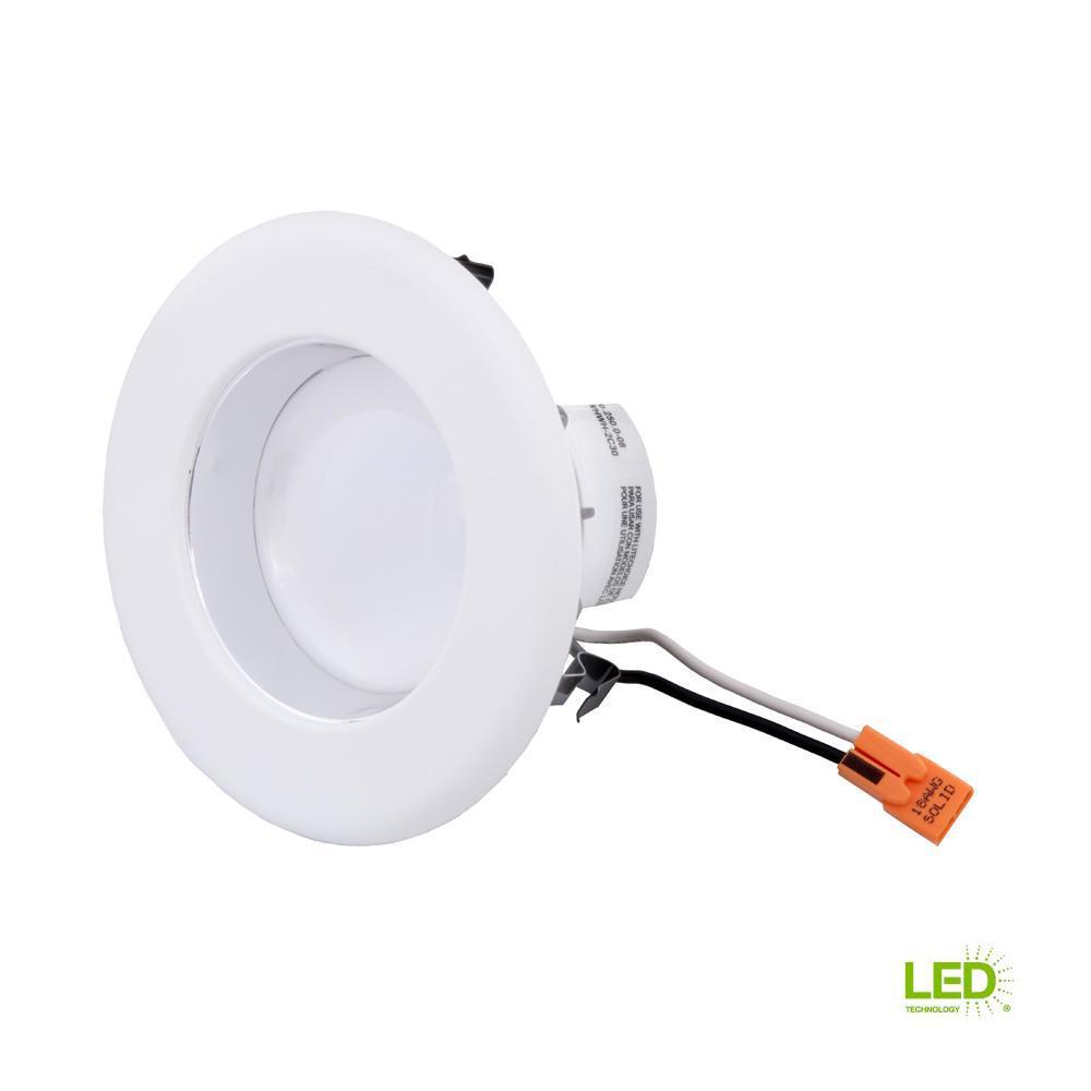 Envirolite 4 In Bright White Led Easy Up Recessed Light