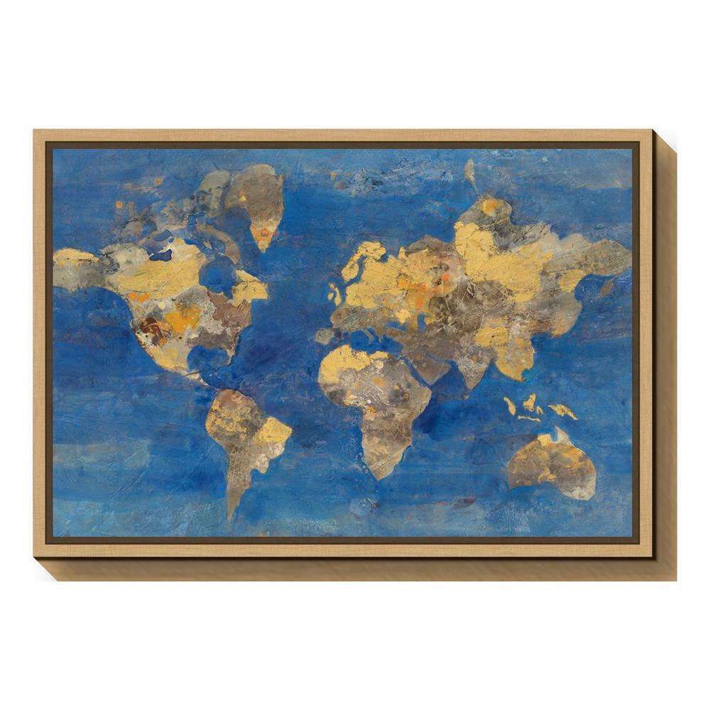 Amanti art golden world map by albena hristova framed canvas wall amanti art golden world map by albena hristova framed canvas gumiabroncs Image collections