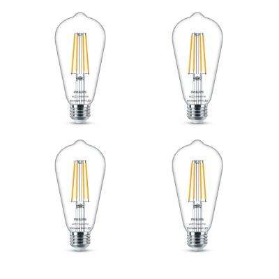 Soft White ST19 LED 40-Watt Equivalent Dimmable Smart Wi-Fi Wiz Connected Wireless Light Bulb (4-Pack)