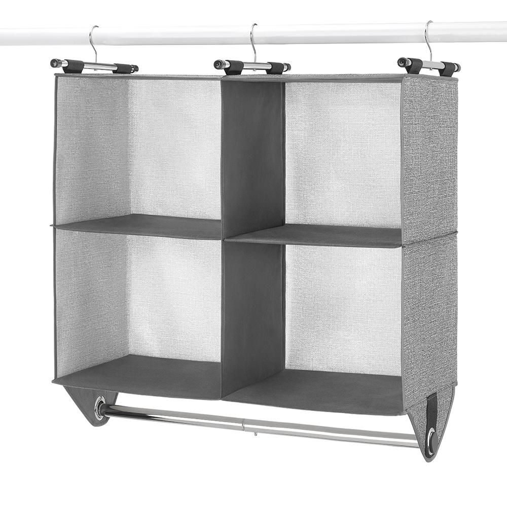 4 Section Closet Hanging Organizer
