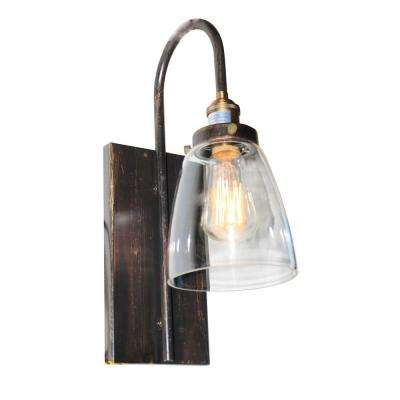 1-Light Bronze and Copper Sconce