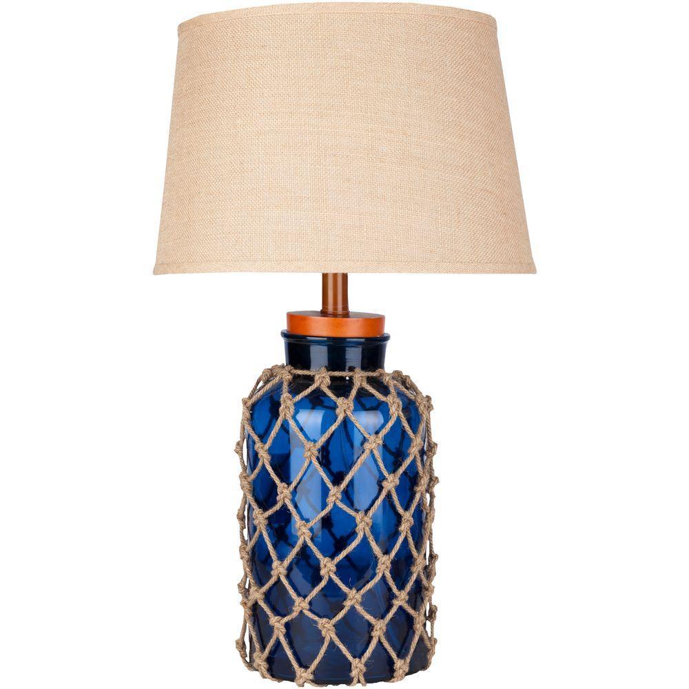 Camras 30 in. Cobalt Indoor Table Lamp