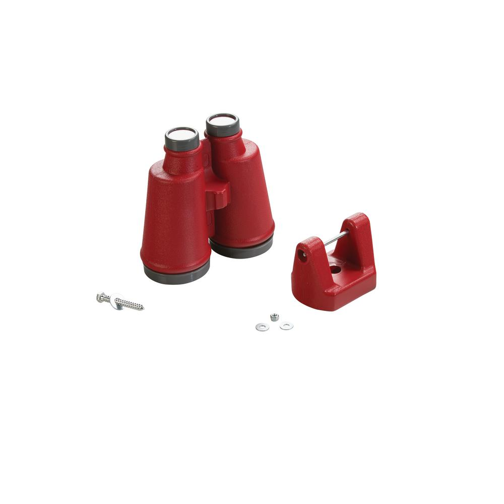 Large Plastic Binoculars- Red