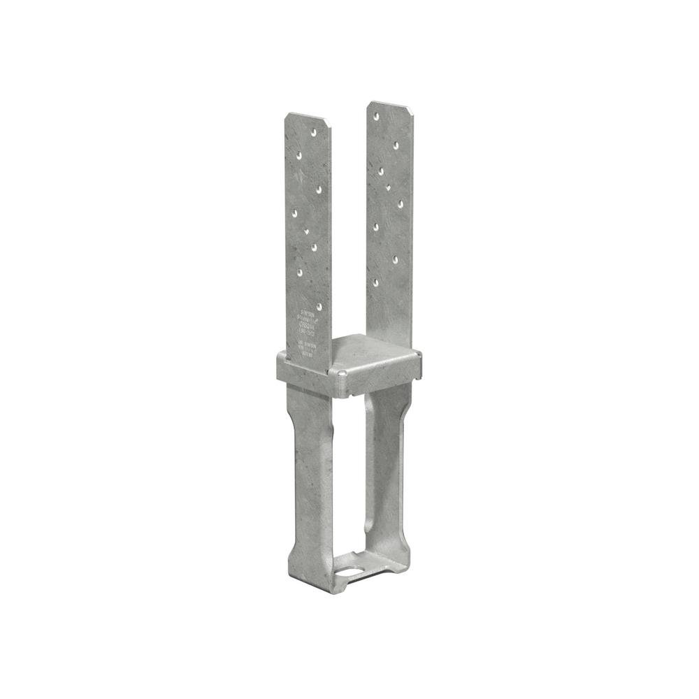 simpson strong tie 4 in x 4 in 12 gauge hot dip galvanized standoff column base with sds. Black Bedroom Furniture Sets. Home Design Ideas