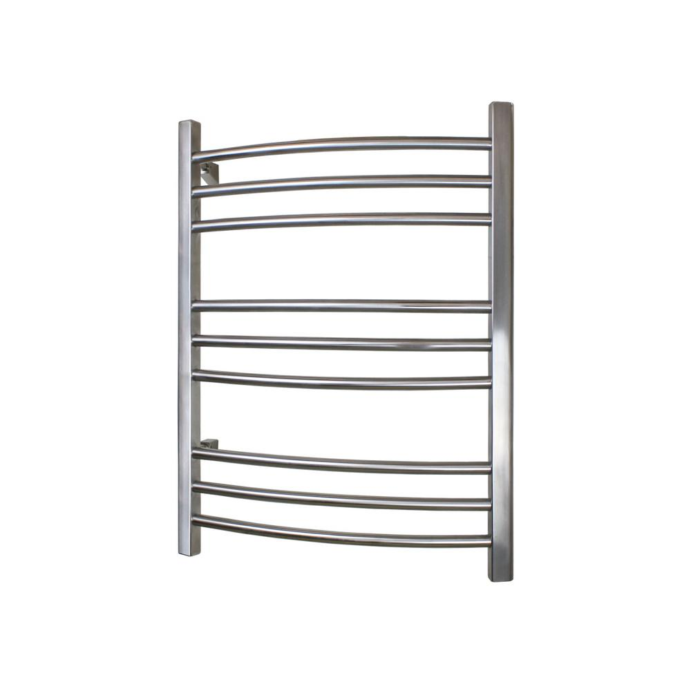 WarmlyYours WarmlyYours Riviera 32 in. Towel Warmer in Brushed Stainless Steel, Silver Brushed