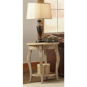 Alaterre Furniture Rustic Driftwood Storage End Table by Alaterre Furniture