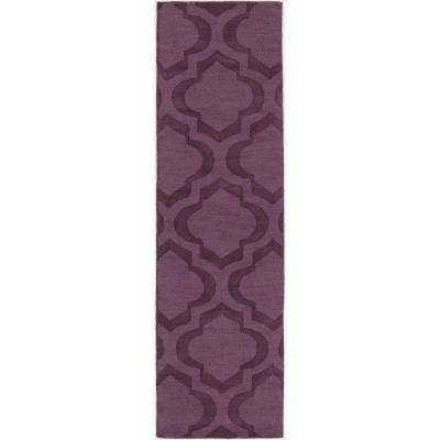 Central Park Kate Eggplant 2 Ft. 3 In. X 10 Ft. Indoor Rug