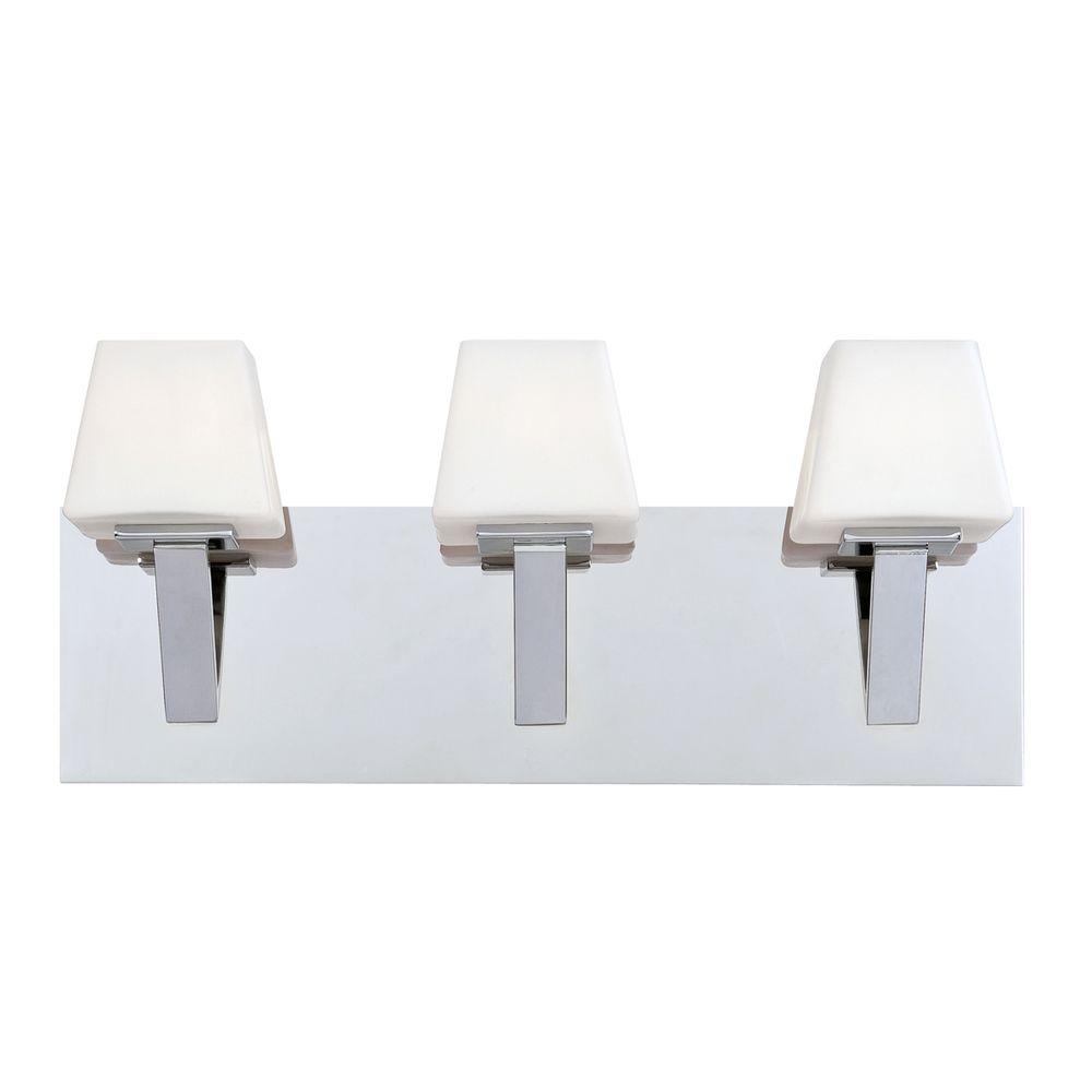 Anglo Collection 3-Light Chrome Bath Bar Light