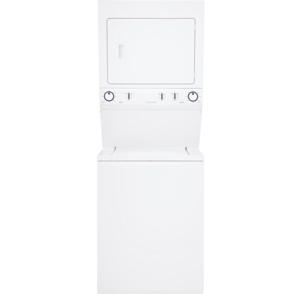 Frigidaire High-Efficiency 3.8 cu. ft. Top Load Washer and 5.5 cu. ft. Gas Dryer in White, ENERGY STAR