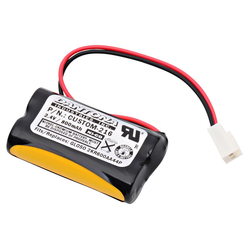 Dantona 2.4-Volt 800 mAh Ni-Cd Battery for Gloso - 2KR600AA44P Emergency