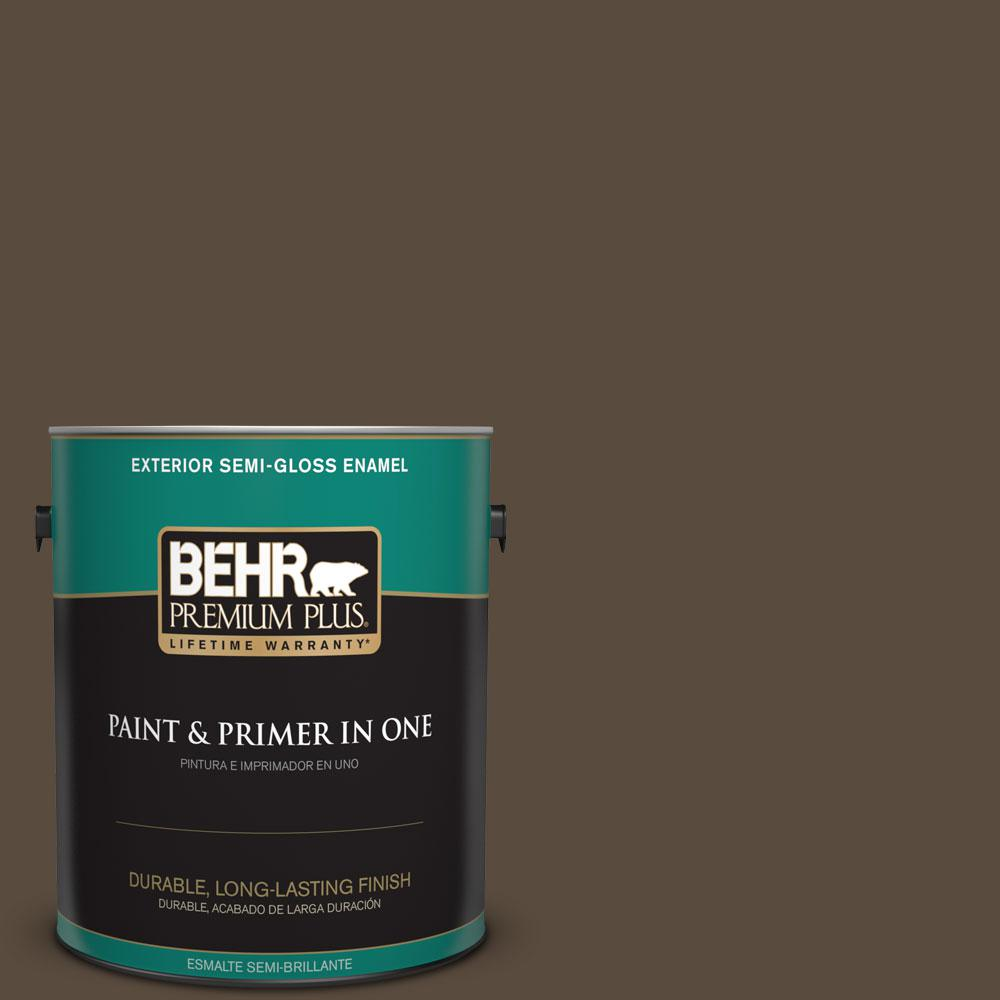 BEHR Premium Plus 1-gal. #S-H-710 Dried Leaf Semi-Gloss Enamel Exterior Paint