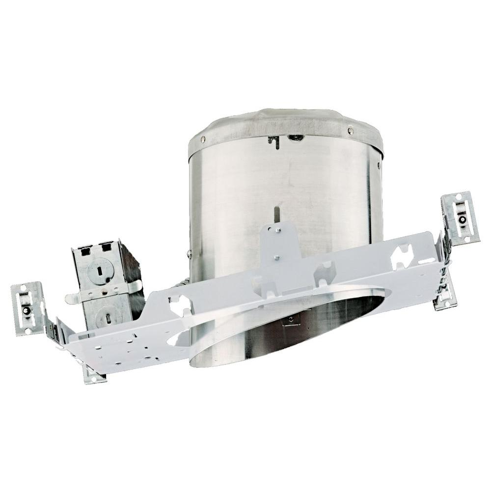 null NICOR 6 in. Recessed IC Rated Airtight Sloped Housing for New Construction Applications with Sloped Ceilings